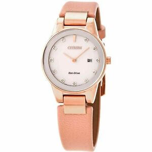 Citizen GA1058-08A Women's Axiom Pink Mother of Pearl Eco-Drive Watch