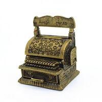 Vintage Metal Cash Register Model Miniature DIY Dollhouse Home Decor 1:12 Scale