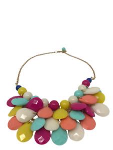 Statement Multi-coloured Teardrop Necklace
