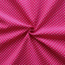 weicher Feincord Baumwollstoff Punkte klein Pink 145cm breit Meterware Babycord