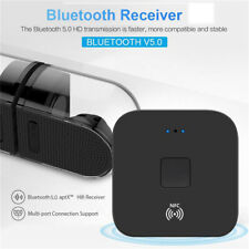 Bluetooth 5.0 Receiver Wireless 3.5mm NFC Jack AUX to 2 RCA Audio Stereo Adapter