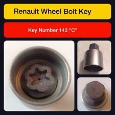 """Genuine renault verrouillage roue écrou clé/143 """"c"""""""