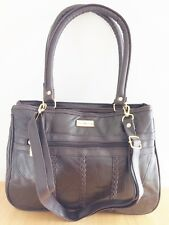 """NATHALIE ANDERSEN"" BROWN REAL LEATHER HANDBAG - BRAND NEW"