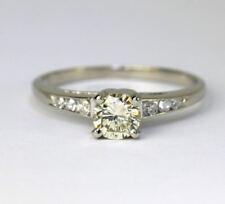 Anillos de joyería con diamantes amarillos brillantes de oro blanco