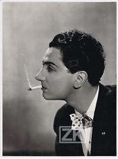PIERRE BRASSEUR Portrait Profil Cigarette Cinéma Français Avant-Guerre Photo 30s