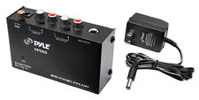 Pyle PP555 Compact Phono Turntable Pre-Amplifier W/ 9V / 12V Battery Compartment