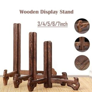 Tall Wooden Display Stand Holder Easels For Plates Photos Home Decoration
