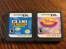 Club Penguin + Disney Princess (Nintendo DS Game Lot) - Tested and Guaranteed