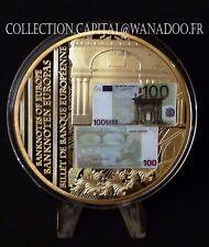 Médaille Billets de Banque de L'Europe 100 Euros Europa 2011 Cuivre doré