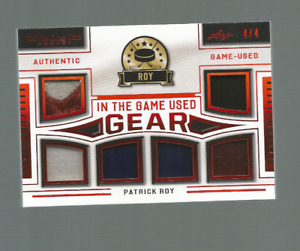20/21 IN THE GAME USED PATRICK ROY #ITGUG-23 GAME USED GEAR 6 PIECES 4/4 NRMT