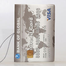 Credit Card Passport Cover With Elastic Band Travel Ticket Pouch ID Holder Case