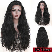 Long Black Fashion Wavy Lace Front Wigs Women's Heat Resistant Synthetic Hair