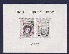 Monaco  bloc spécial  13 de  1980   Europa    RARE    **