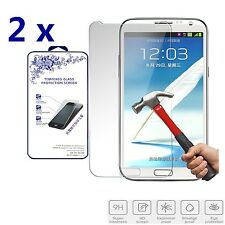 2x For Samsung Galaxy Note 2 II N7100 HD Premium Tempered Glass Screen Protector