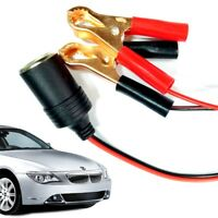 Car Cigarette Lighter Socket 12V Portable Power Plug Adapter W/ Crocodile Clip