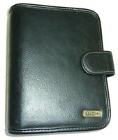 """Franklin Covey Day One 1 Planner Binder Organizer Compact Black Leather 1"""" Rings"""
