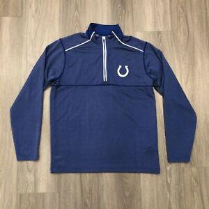 Antigua Indianapolis Colts Mens Medium Embroidered Logo 1/4 Zip Pullover