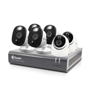 Swann 6 Camera 8 Channel 1080p DVR-4580 Security System, 1TB HDD, Heat & Motion