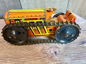 Vintage Marx Tractor Tin Litho Toy
