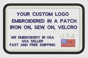 A LA CARTE Logo Custom Made Iron on Patch Badges Embroidered DIY Patch, Free sh
