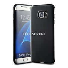 For Samsung Galaxy S7 Edge Black Soft Silicone Case Cover Jelly Bumper Rubber