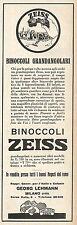 W2162 Binoccoli Grandangolari ZEISS - Pubblicità del 1928 - Vintage advertising