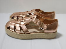 NEW! CIRCUS by Sam Edelman Rose Gold Leather Flatform Buckle Shoes..9 M / 40 EUR