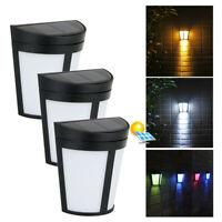 Solar Wall Light 6 LED Wall Fence Lights Garden Yard Wall Pathway Fence Lamp