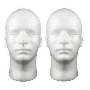 2x 21'' Foam Salon Freistehende Schaufensterpuppe Kopfständer für Hut Helm
