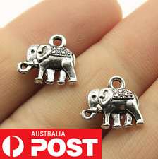 2/5/10/20 Pcs Bulk Antique Silver Elephant Charms Boho Pendant Animal 13x12mm