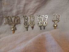 Lot of 6 Vintage Screws / Cane Toppers 1978 / 1979