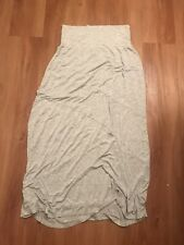 Spense Long Light Gray Flowy Stretchy Maternity Womens Medium Skirt