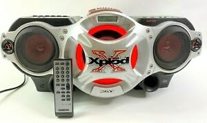 Sony Xplod CFD G700CP CD Radio Cassette Boombox With Aux & Wireless Remote