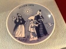 Porsgrund Norway Ltd Edition 1975 Christmas Plate,Jesus on the Road 2 the Temple