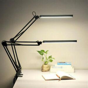 Metal Swing Arm Table Desk Edge Lamp 5W LED Clamp Adjustable Reading Bedroom