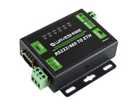 Industrial RS232/RS485 to Ethernet Converter Dual Serial Ports High-speed