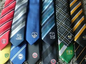 Sports Team Ties - Football Rugby Coventry Wasps Sheffield FC Celtic etc Choose!
