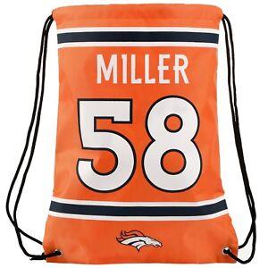 Von Miller #58 Denver Broncos Jersey Backpack Drawstring gym sports Bag
