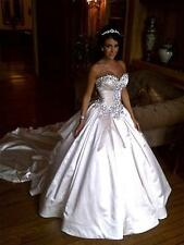 2018 Sweetheart Wedding Dresses Sparkling Crystal Ball Gown Bridal Gowns Custom