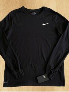 NWT Nike Dri-Fit Athletic Cut Logo Swoosh Men's Sz Large Black T shirt