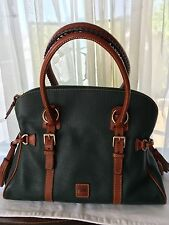 DOONEY & BOURKE DILLEN & FLORENTINE DOMED BUCKLE SATCHEL  IVY  EUC