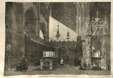 NOTRE-DAME DE BROU DESSIN THEROND GRAVURE IMAGE 1866