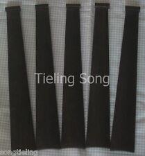 5pcs undyed black violin indonesia ebony fingerboard 1/2,musical instrument part