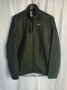 NIKE AeroLayer Running Insulated Jacket Sequoia Green BV4874-355 Men's Small