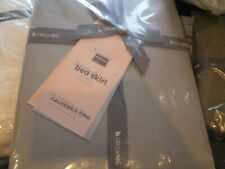 "West Elm 400 Tc sateen organic bedskirt bed skirt platinum California King 15"""