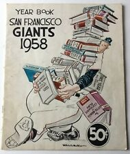 1958 San Francisco Giants Baseball Yearbook 1st Year