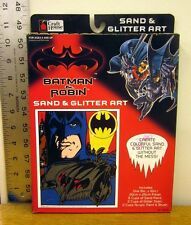 BATMAN & ROBIN Sand & Glitter Art comics kit 1997 painting George Clooney NWT