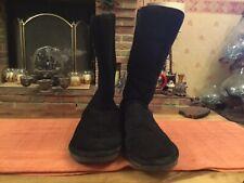 Bearpaw Ladies Winter Boots  Emma Short Black  Uk 8 , Suede Upper & Sheepskin