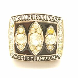 USA Los Angeles Raiders 1983 Marcus Allen Super Bowl Championship Silver Ring