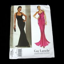 Vogue Paris Original Guy Laroche Evening Gown Size 14-20 EE Sewing Pattern V1016